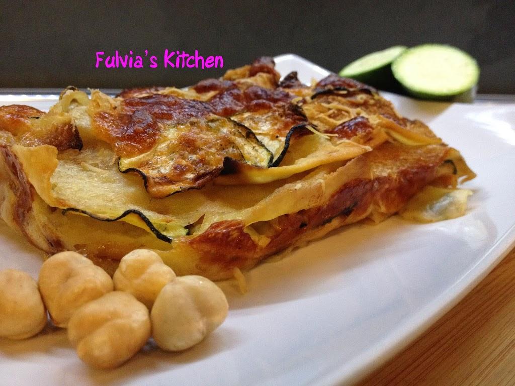 #Lasagne di #pane #guttiau con #speck, #zucchine e #mozzarella