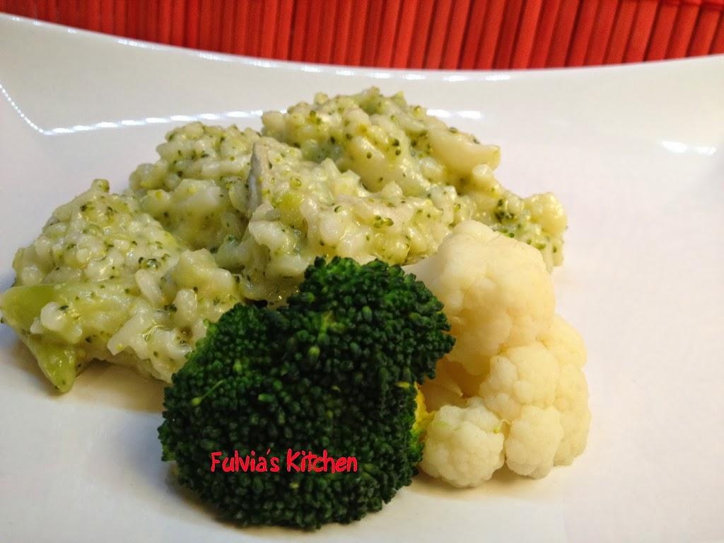Risotto con broccoli, cavolfiore e gorgonzola