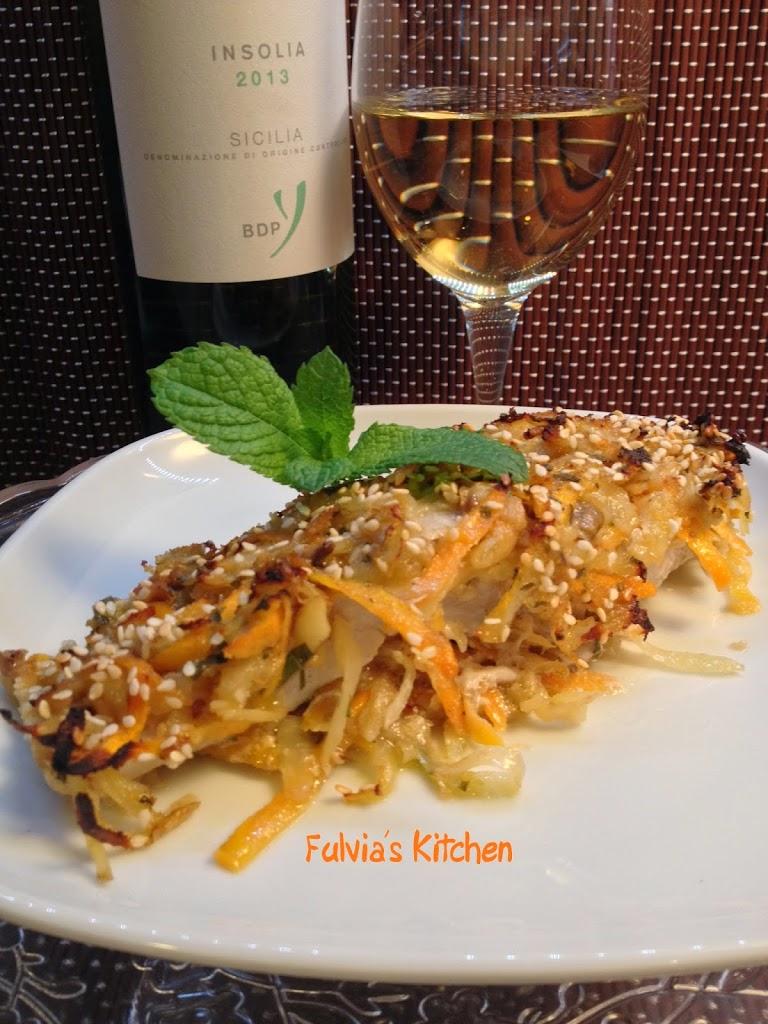 Filetto di persico in crosta di verdure al profumo di menta – Insolia di BagliodiPianetto