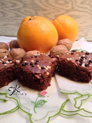 Brownies cioccolato fondente noci e arancia6