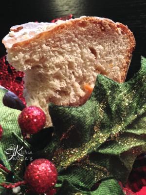 Brioche vegana Albero di Natale con frutta disidratata7