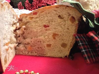 Brioche vegana Albero di Natale con frutta disidratata8
