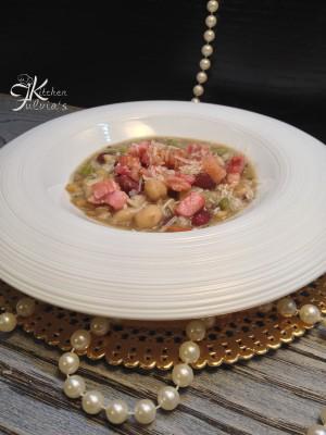 Zuppa di cereali e legumi con coriandoli di pancetta2