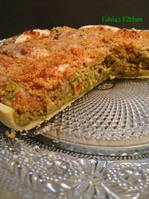 Torta salata vegetariana con pasta Brisee5