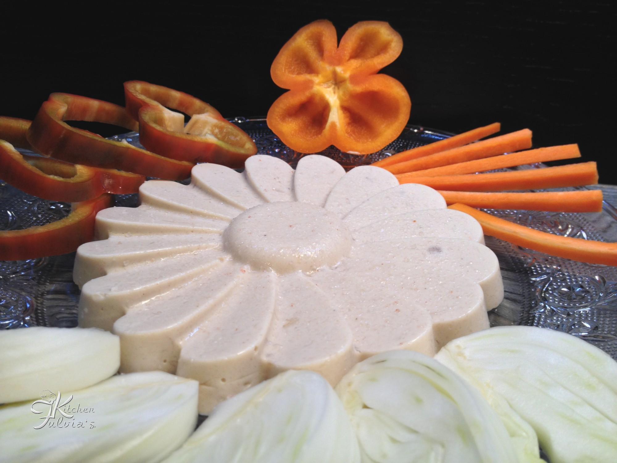 Bavarese salata con Pepino e ricotta