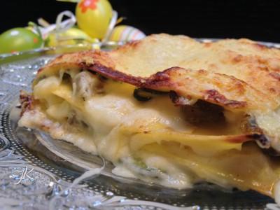 Lasagne cremose con carciofi e zucchine1