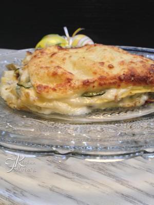 Lasagne cremose con carciofi e zucchine3