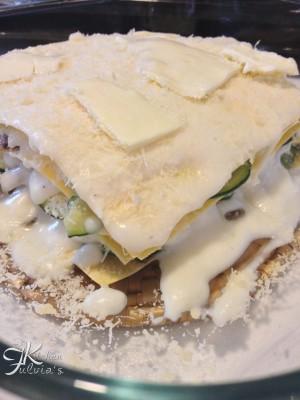 Lasagne cremose con carciofi e zucchine4