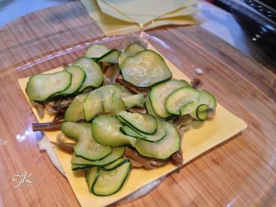 Lasagne cremose con carciofi e zucchine6