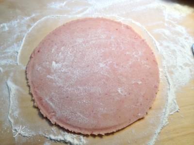 Crostata con frolla alle fragole, crema pasticcera e fragole4
