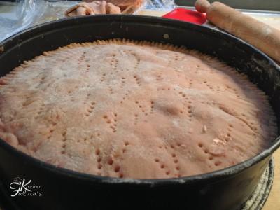 Crostata con frolla alle fragole, crema pasticcera e fragole7