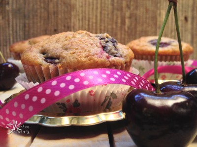 muffin integrali con yogurt e ciliegie1