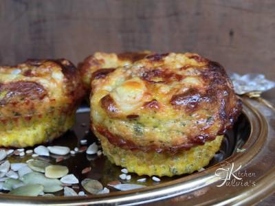 Frittatine al forno con fontina, prezzemolo e semi vari