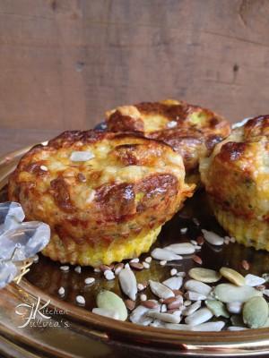 Frittatine al forno con fontina, prezzemolo e semi2