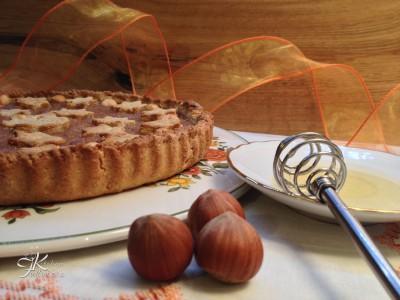 crostata integrale con miele e nocciole1