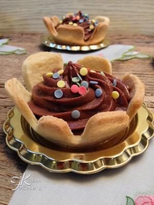 Tartellette con crema pasticcera al cioccolato8