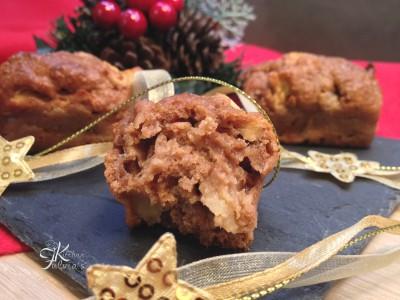 mini plum cake integrali con mele e pere