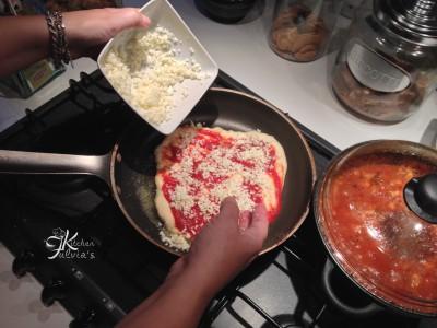 pizza in padella con pasta madre5