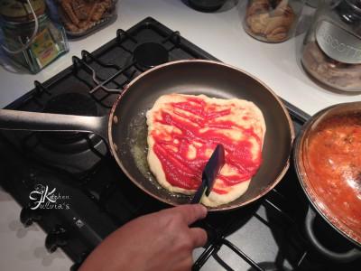 pizza in padella con pasta madre6