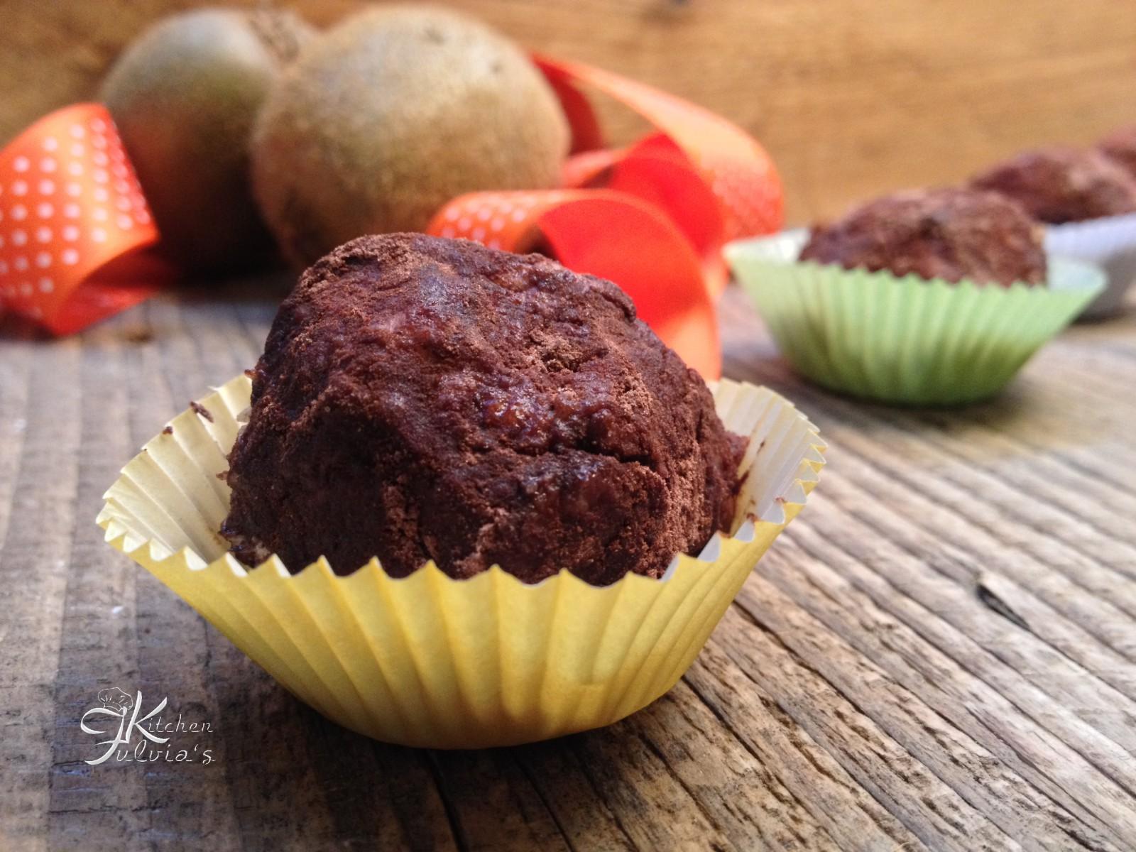 Truffles alla crema di kiwi
