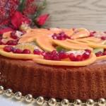 crostata morbida con crema alla melagrana e frutta