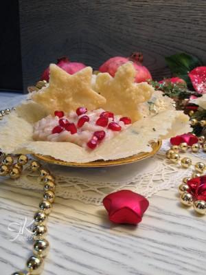 risotto con melagrana e stracchino in cestini di parmigiano14