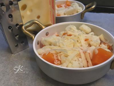 Zucca e cavolfiore gratinati al forno