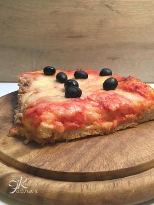 Pizza altissima con lievito di birra e biga