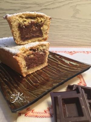 Pluncake di frolla alle mandorle e crema al cioccolato