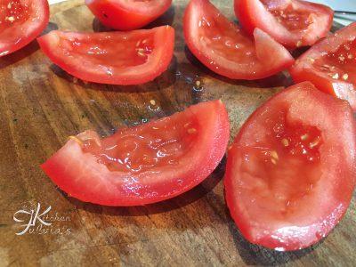Cozze piselli e pomodori