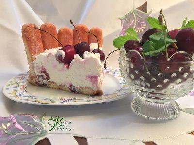 charlotte alle ciliegie senza cottura