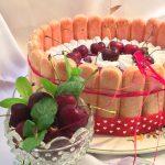 charlotte alle ciliegie senza cottura1