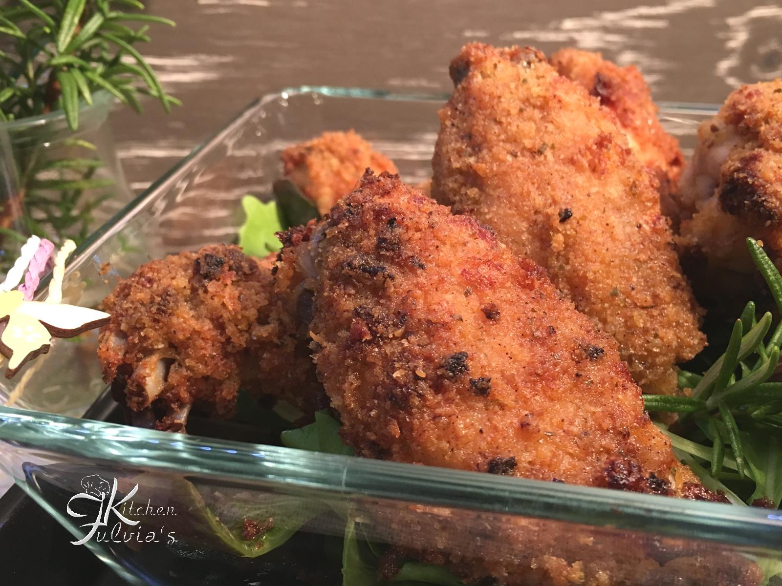 Ali di pollo croccantissime al forno