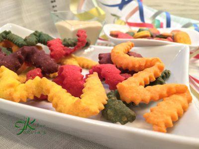 Coriandoli e stelle filanti sablèe salati
