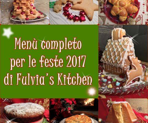 Menù completo per le feste 2017
