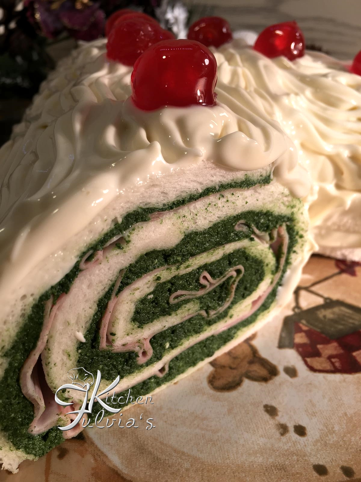 Ricetta Tronchetto Di Natale Salato.Tronchetto Di Natale Salato Buche De Noel Fulvia S Kitchen