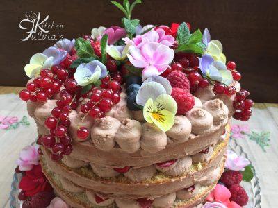 Naked cake - torta nuda alle fragole