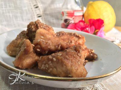 Bocconcini teneri di pollo al sesamo