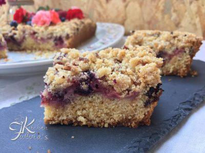 Crumble cake - Torta sbriciolata ai frutti rossi