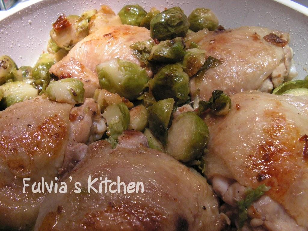 #Pollo coi #cavolini di #Bruxelles