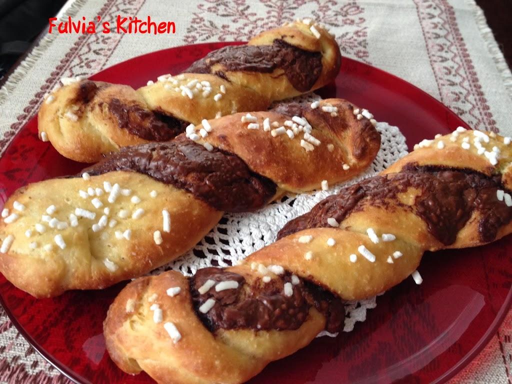 #Brioches alla #ricotta con #Nutella
