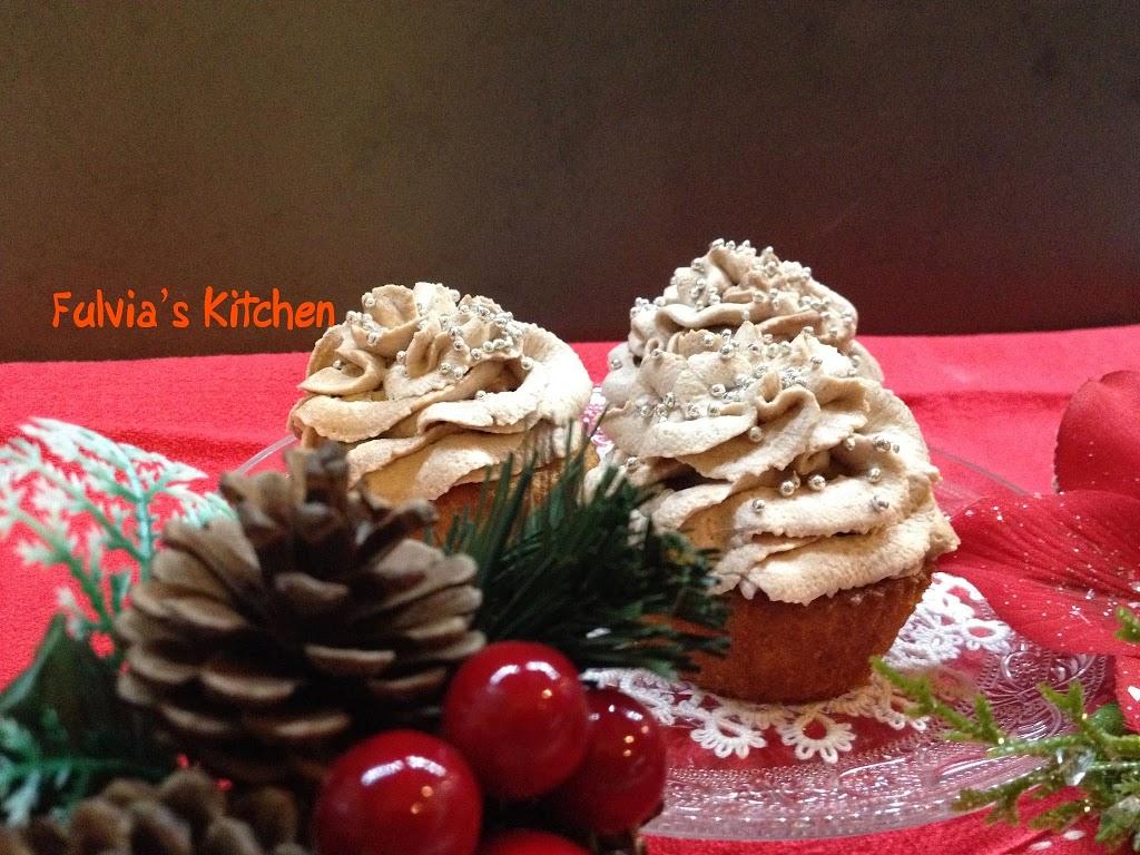 Cupcakes natalizi alla Nutella con frosting goloso