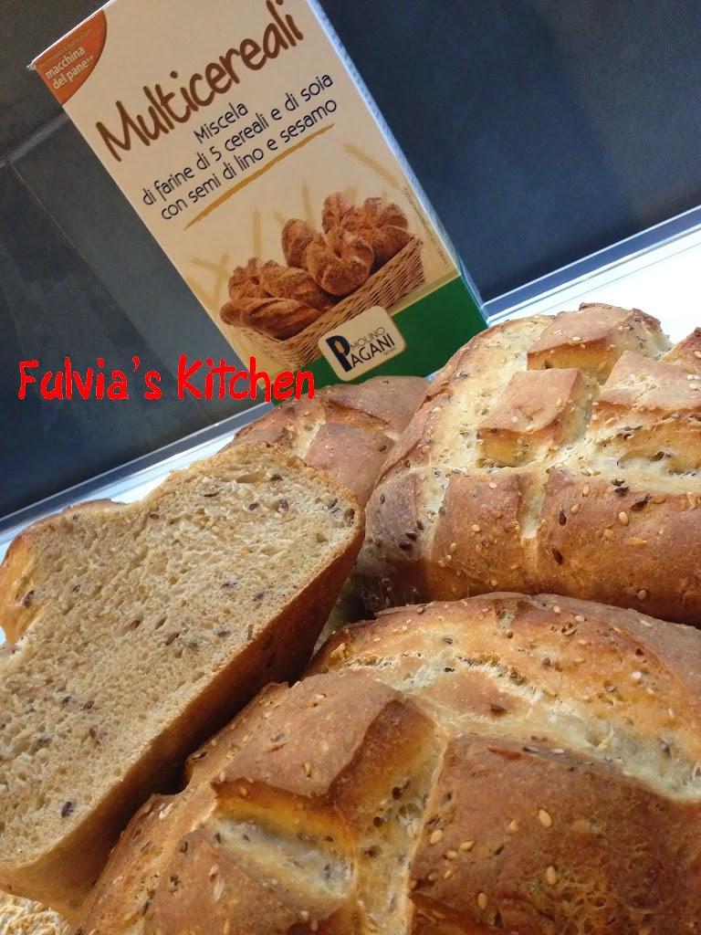 #Pagnotte con #pasta #madre e #Miscela #Multicereali #Molino #Pagani
