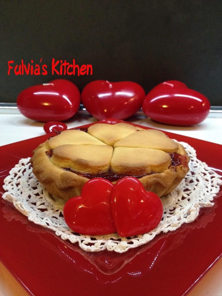 #Mini #Crostata per #San #Valentino con #confettura di #fragole