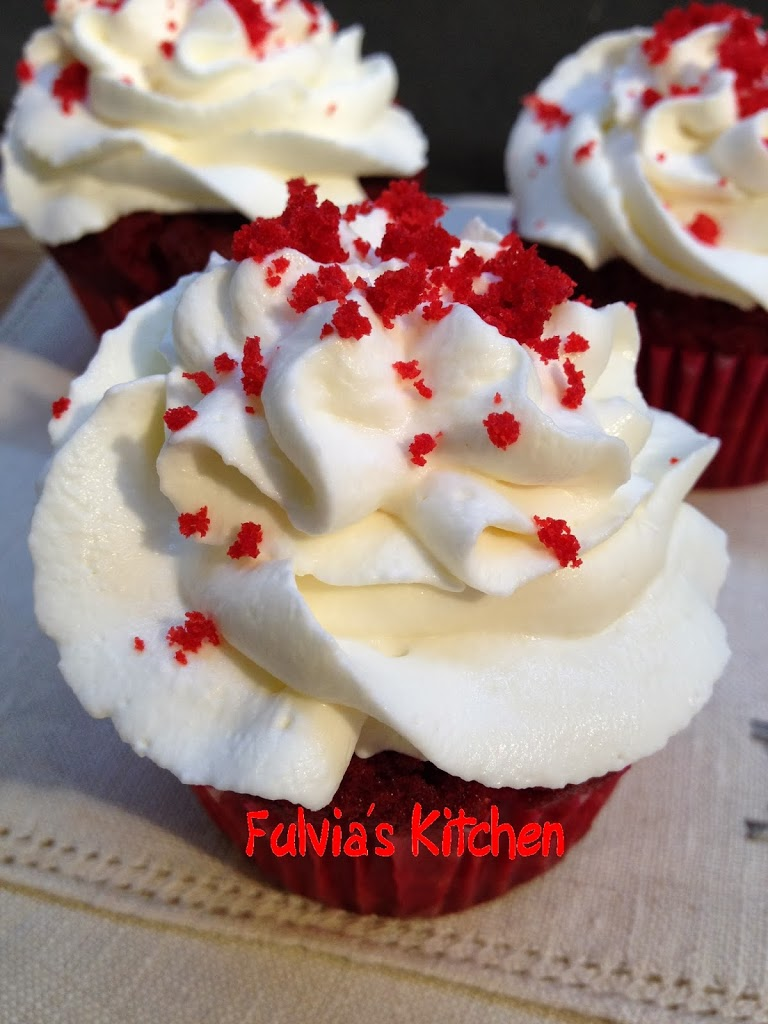 Red velvet cupcakes con nocciole a modo mio