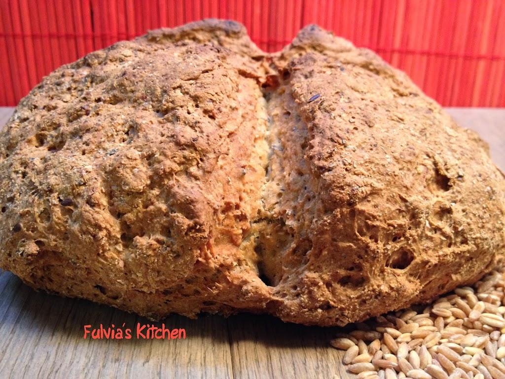 Pane irlandese con farina di farro e grano saraceno