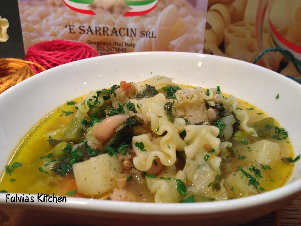 Zuppa con Mafaldine – 'E Sarracin