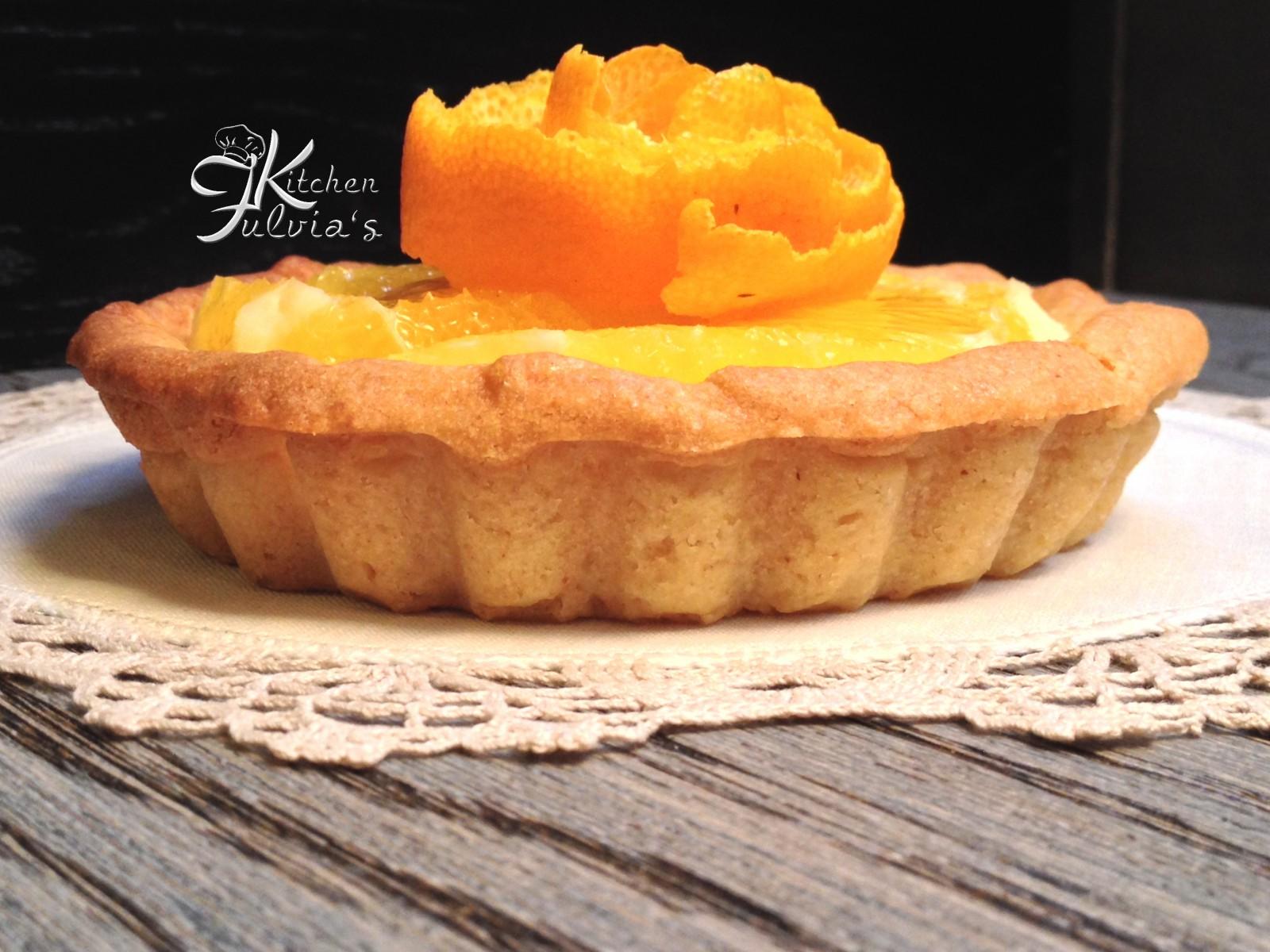 Crostata al burro d'arachidi e crema all'arancia