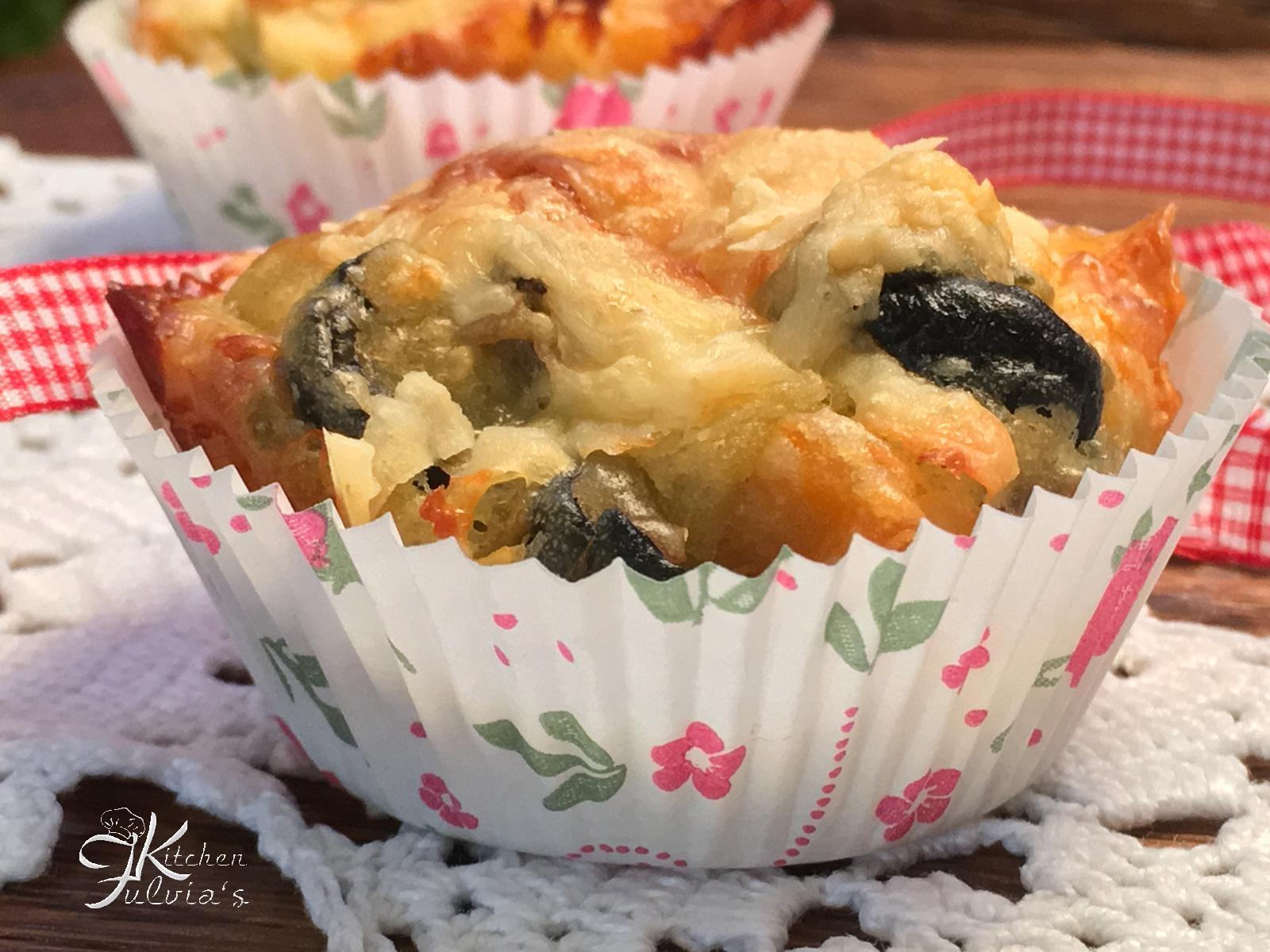 Muffin salati verdure e groviera