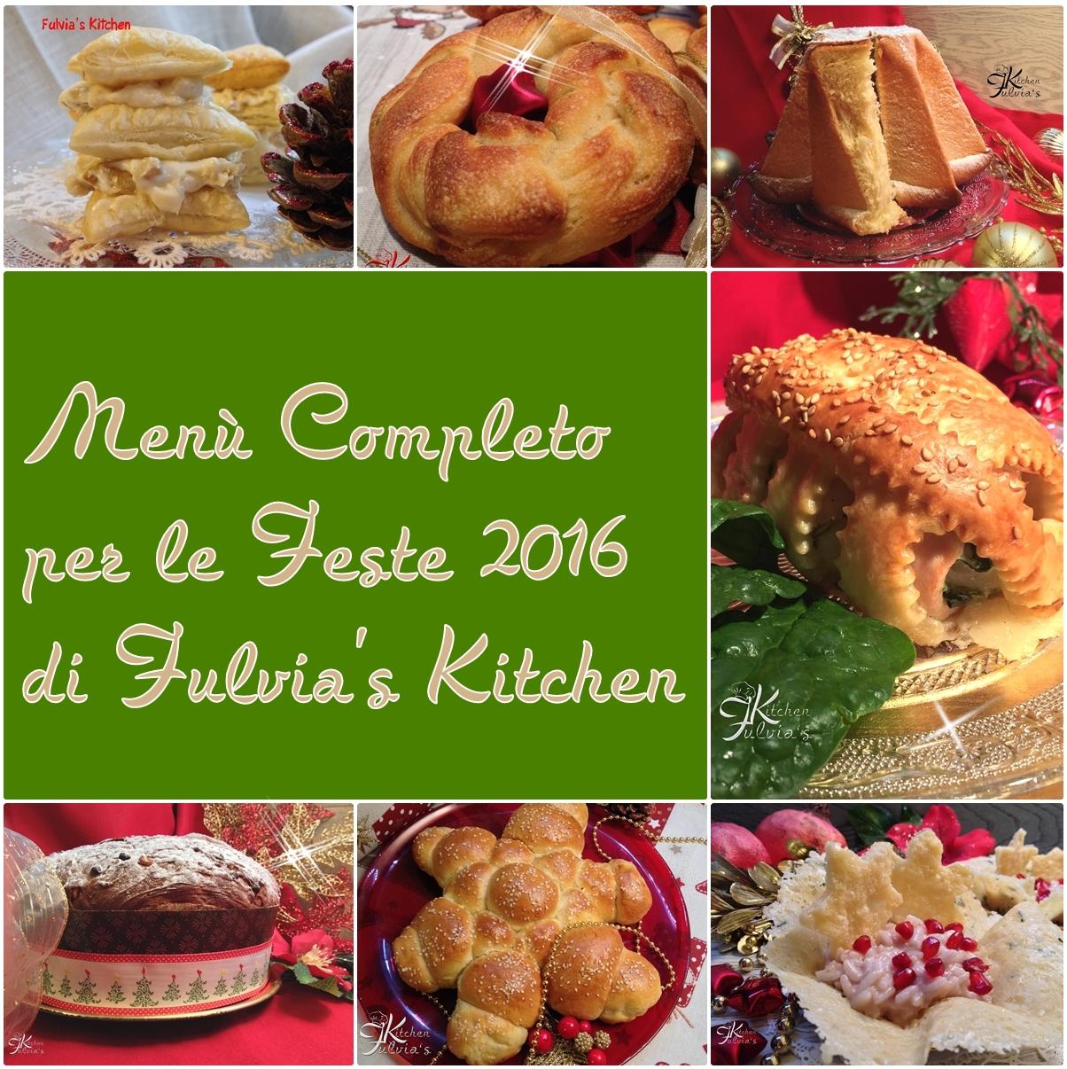 Menù completo per le feste 2016
